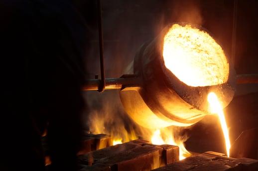 liquid molten steel large